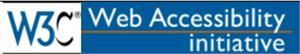 [Bilde: Logo W3C - Web accessibility initiative]